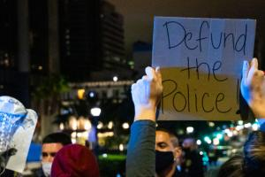 San Diego defund the police protest